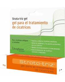 Strata-Triz 5g es un gel de silicona transparente de secado rápido especialmente formulado para el tratamiento de cicatrices.