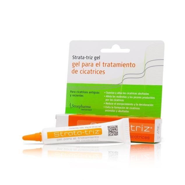Strata-Triz 10g es un gel de silicona transparente de secado rápido especialmente formulado para el tratamiento de cicatrices.