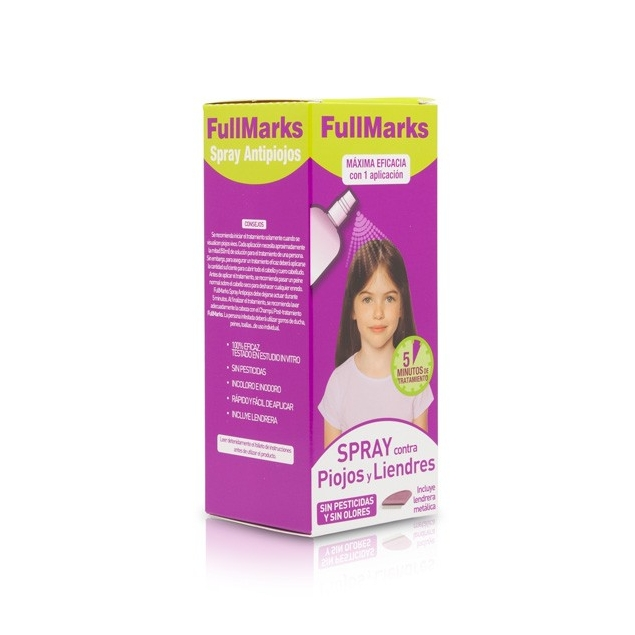 Fullmarks 150ml Spray Piojos y Liendres