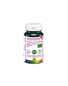 chlorella bio con acido folico hierro y b12 90 comp