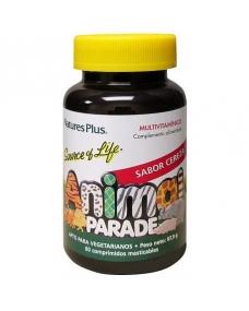 Animal Parade Multivitaminas Cereza Para Niños 60 comprimidos masticables Complemento Alimenticio