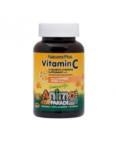 Animal Parade Vitamina C Para Niños 90 comprimidos masticables Complemento Alimenticio