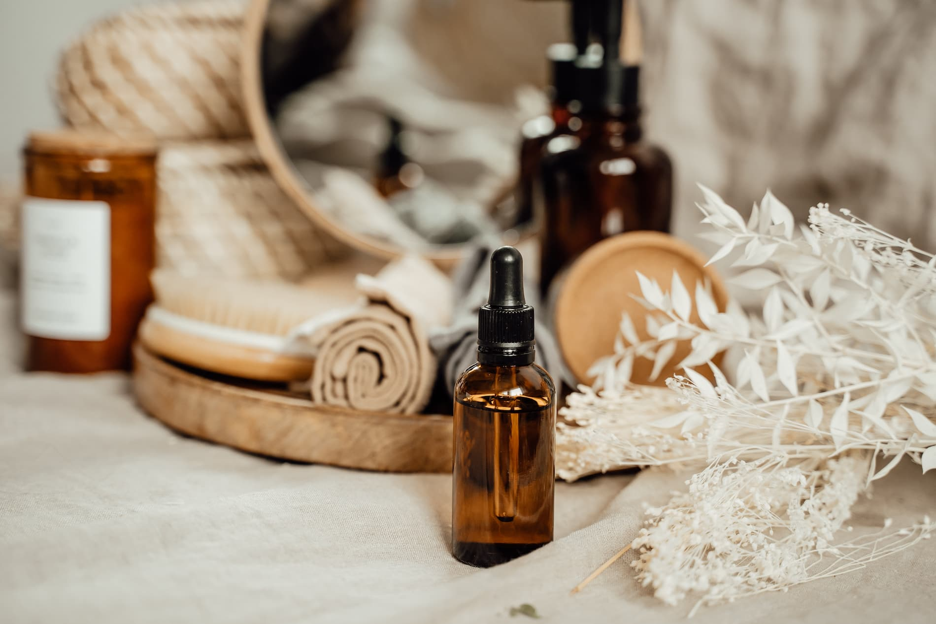 Aceite corporal para la dermatitis atópica